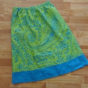 FLAX LINEN SKIRT SMALL